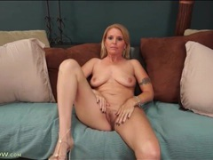 Pretty milf in a little dress strips for you videos