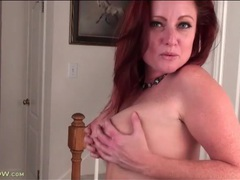 Irresistible milf redhead teases in lingerie movies at sgirls.net