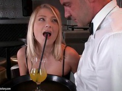 Bartender goes down on hot blonde customer movies at find-best-babes.com