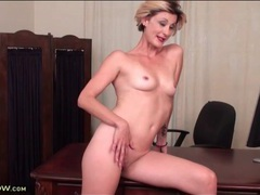 Blonde jayden monroe is naked in the office movies at lingerie-mania.com