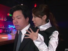 Japanese bartender sensually sucks his toes videos