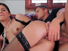 Goddess in black lingerie fucked in the ass videos