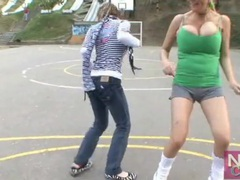 Big breasts girls play soccer outdoors movies at find-best-mature.com