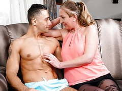 Lustygrandmas thirsty granny seduces her new jock neighbor movies at find-best-mature.com