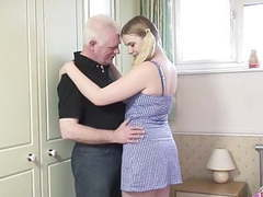 Oldman fucks young blonde in the bedroom movies at find-best-mature.com