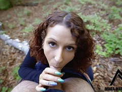 Fuck at minimum distance! blowjob in the forest! videos
