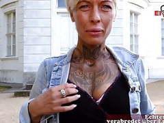German skinny tattoo milf at public blind date ercom casting videos