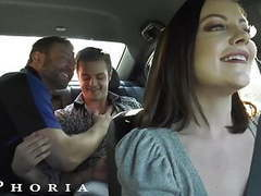 Biphoria - hot uber driver joins horny gay couple, Anal, Blowjob, Brunette, Hardcore, Big Boobs, Bisexual, HD Videos, Driver, Eating Pussy, Threesome, Big Cock, Small Boobs, Double Blowjob, Mmf Threesome, Car Blowjob, Bi Mmf, Bisexual Mmf, Asshole Closeup videos