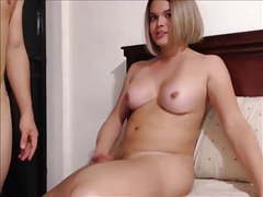 Chubby blond ts fucking her young boyfriend movies at freekiloclips.com