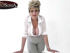 Lady sonia is here to help with your daily wank, Blonde, Mature, Pornstar, Big Boobs, British, Softcore, HD Videos, Dirty Talk, High Heels, Big Tits, Yoga Pants, Hard, Hard Cock, Helping, Lady Sonia, Pants, Wank, Stroking, British Mature, Daily, Hard Ons, videos