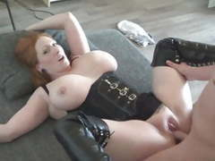 Big boobed redhaired milf fucked in high leather boots, Amateur, Blowjob, Redhead, MILF, HD Videos, Big Natural Tits, Boots, Leather, Big Tits, Fucking, Rough Sex, Leather Boots, MILF Fuck, High Boots, Big MILF, Leather MILF, Leather Fuck, Brutal Sex, Boo videos