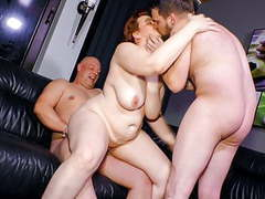 Amateureuro - mature couple invites young neighbor for 3way,  videos