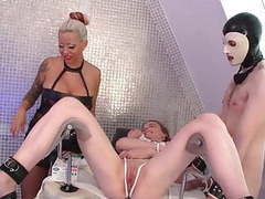 Goddess and her couple of slaves,  videos