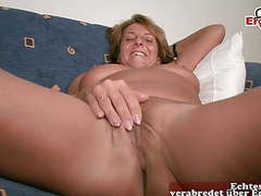 Horny old mature german housewife at sex casting,  videos