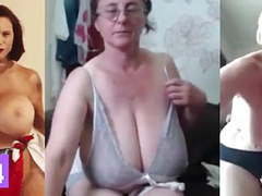 Huge milf tits, jerk off challenge to the beat #7,  videos