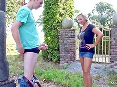 Mother catches stepson jerking off in the garden and lets him fuck her, Blowjob, Hardcore, Mature, Big Boobs, MILF, Old &,  Young, German, HD Videos, Outdoor, Big Natural Tits, Big Tits, Fucking, Lick My Pussy, Mother, Son, Vagina Fuck, Son Caught, Mom movies at find-best-mature.com