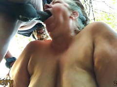 Mature bbw gives deepthroat squirting blowjob in the woods, Blowjob, BBW, Cumshot, Mature, Big Boobs, Squirting, Interracial, HD Videos, Outdoor, Cum in Mouth, BBW MILF, BBW Mature, BBW Deepthroat, MILF Blowjob Swallow, Young BBC, xHamster Premium, Mature videos