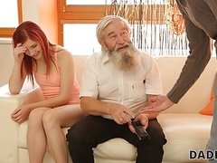Daddy4k. tender girl really likes to be caressed by bearded daddy, Teen, Redhead, Old &,  Young, Threesomes, HD Videos, Cute Girls, Girl Masturbating, Caught Masturbating, Beautiful Girls, Small Boobs, European, Old Young Sex, Dad, Daddy4K, Teen Mastur videos
