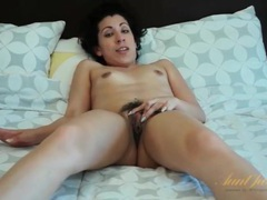Milf all alone and masturbating hairy pussy videos