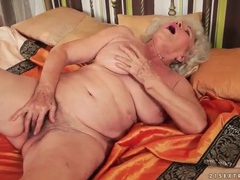 Solo granny masturbates her hairy cunt movies at sgirls.net