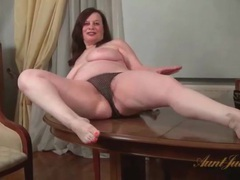 Fat milf exposes her hairy cunt for us movies at sgirls.net