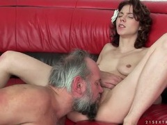Grandpa cums inside young cunt he fucks movies at sgirls.net