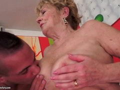 Kissing and eating out a horny granny movies at lingerie-mania.com