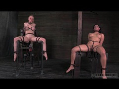 Two girls in bondage suffer sexy pain movies at adspics.com