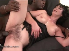 Hairy milf pussy fucked by big black cock videos