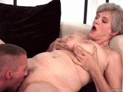 Big tits granny gives a sexy blowjob tubes