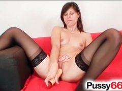 Euro cutie in black stockings masturbates movies at kilotop.com