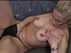 Mature in sexy set of glasses masturbates movies at kilopills.com