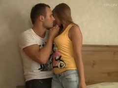 Perky teen tits sucked on by horny guy movies