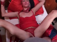 Bound blonde fucked in the asshole in pov videos