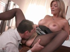 Hot housewife with big tits eaten out movies at freekiloporn.com