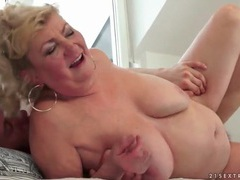 Fat grandma likes young cock in her pussy videos