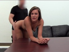 Girl gives up her asshole in casting couch session videos