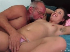 Old man and cutie have pissing fun movies at kilopills.com