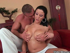 Soccer mom with big tits sucks cock and gets fucked movies at very-sexy.com