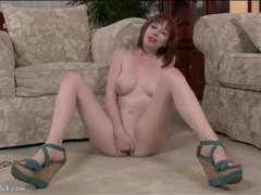 Redhead stuffs two fingers deep into her cunt movies at find-best-hardcore.com
