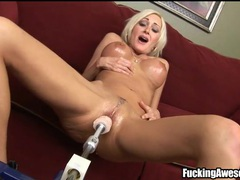 Blonde torrey pines fucks dildo machine movies at sgirls.net
