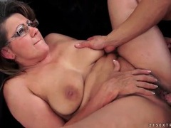 Granny wears glasses for her hardcore fucking movies at relaxxx.net
