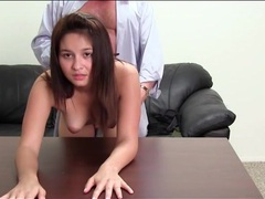 Young brunette blows and fucks big cock movies at sgirls.net