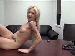 Heavily tattooed blonde amateur fucked movies