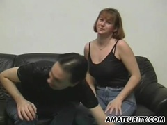Amateur couple doing it for a casting videos