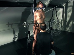 Screams of pain and pleasure for nasty slave girl movies at freekiloporn.com
