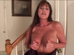 Mature cynthia davis strips from her evening gown movies at lingerie-mania.com