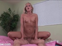Tanned blonde mom sits her box on his cock movies at sgirls.net