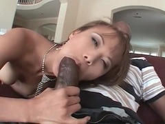 Tall skinny asian gives head to a black cock tubes at sgirls.net
