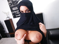 Busty muslim milf cheats on husband with white guy, pov videos